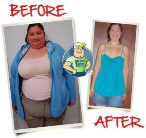 lady fat and thin before and after diet