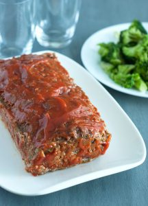 meat loaf with broccoli