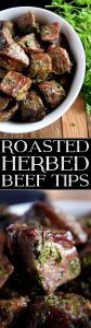 cubed roast beef with herbs