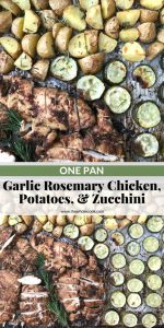 garlic rosemary chicken and zucchini