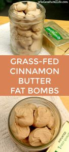 butter balls with cinnamon in mason jar