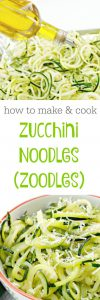 low carb zucchini noodles with olive oil