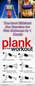 lady with six pack abs and plank poster